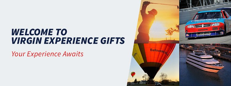 Welcome to Virgin Experience Gifts! Your experience awaites..