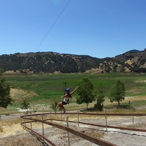 Zip Line near Santa Barbara