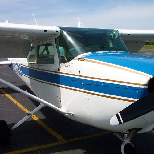 Close Up of Plane at Learn to Fly Boston