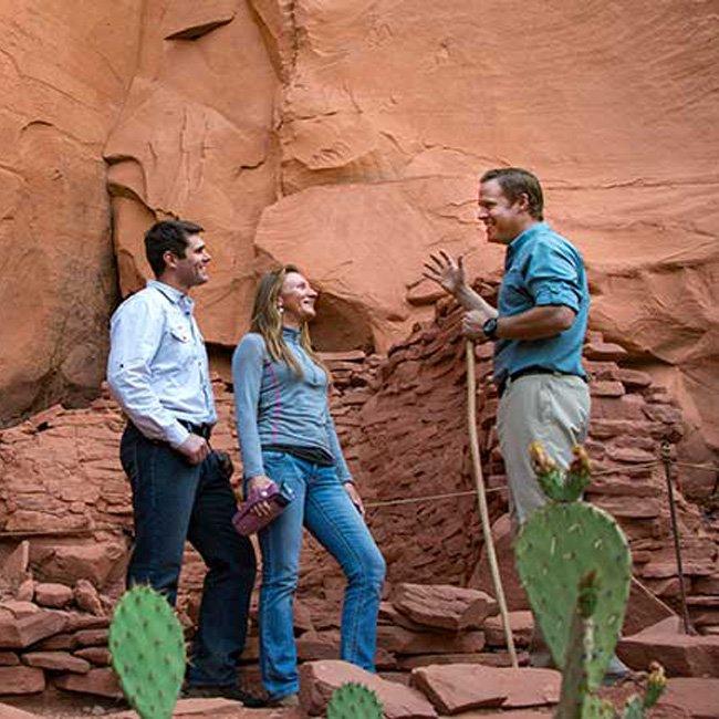 Exploring Ancient Ruins during Jeep Tour