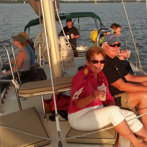 Enjoying a Chesapeake Bay Sailing Cruise at Sunset