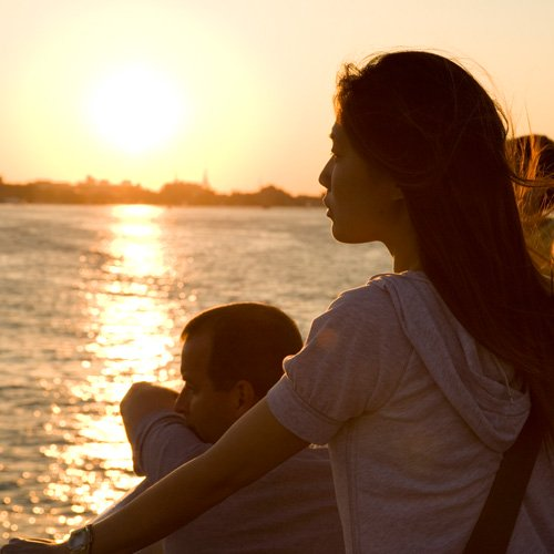 Enjoying a New England Sunset on Boston Harbor Cruise