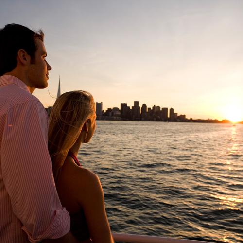 Romantic Sunset in Boston