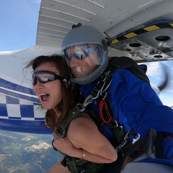 Skydiving near Cleveland