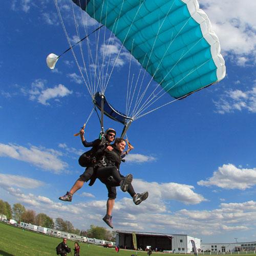Tandem Skydiving Landing