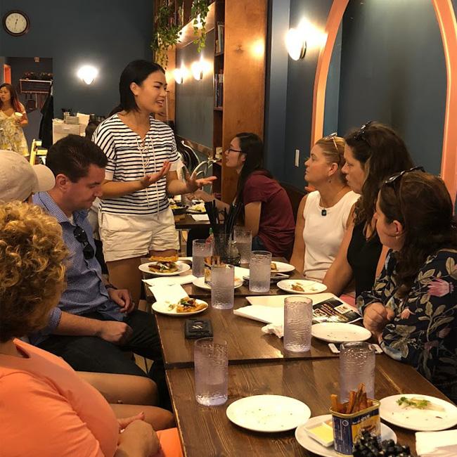 Group Enjoying Chinese Food Tour