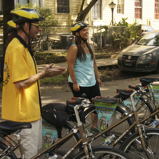 Guided biking tour in New Orleans