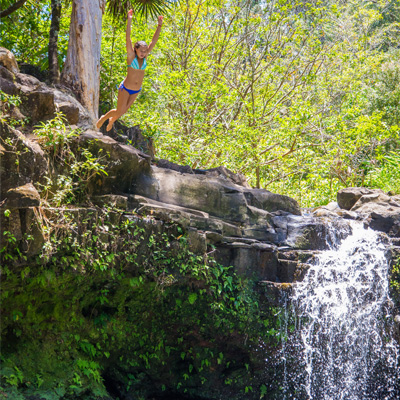 Cliff Jumping on Maui