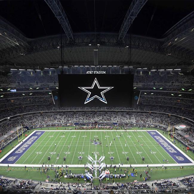 Big Screen at AT&T Stadium near Dallas