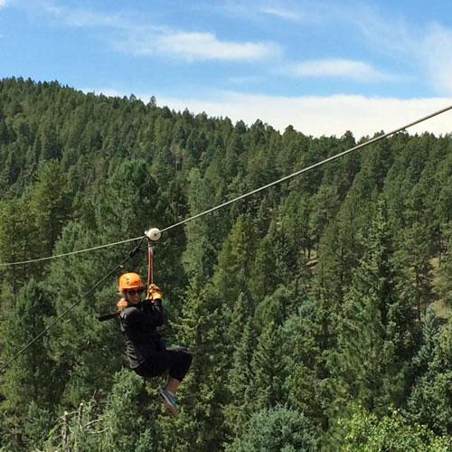 rocky Mountain Ziplining near Denver