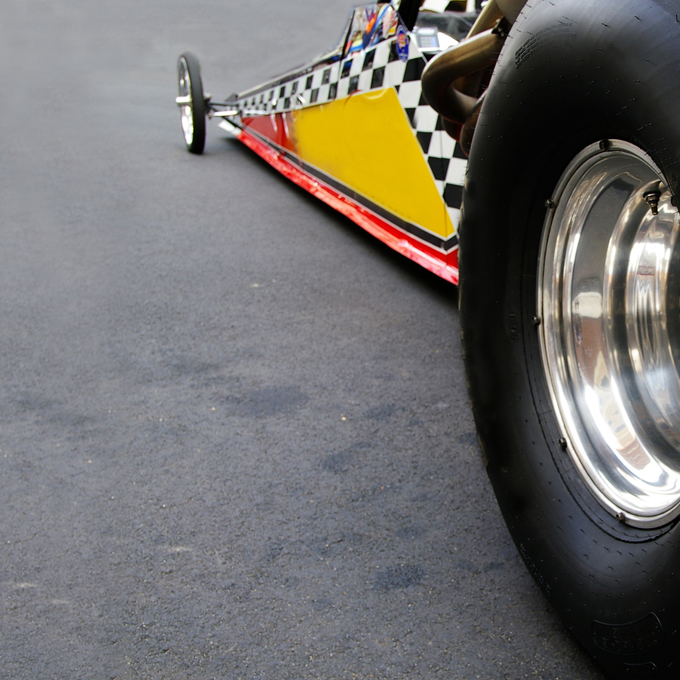 Side-by-Side Dragster Race at Lucas Oil Raceway