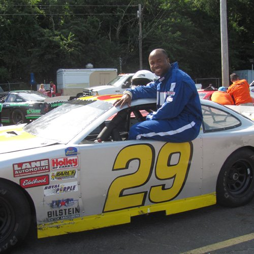 Siked to Race a Stock Car!