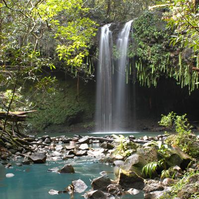 Double Falls on Maui