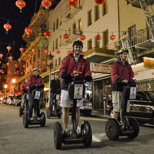 Segway Tour of Chinatown at Night in San Francisco