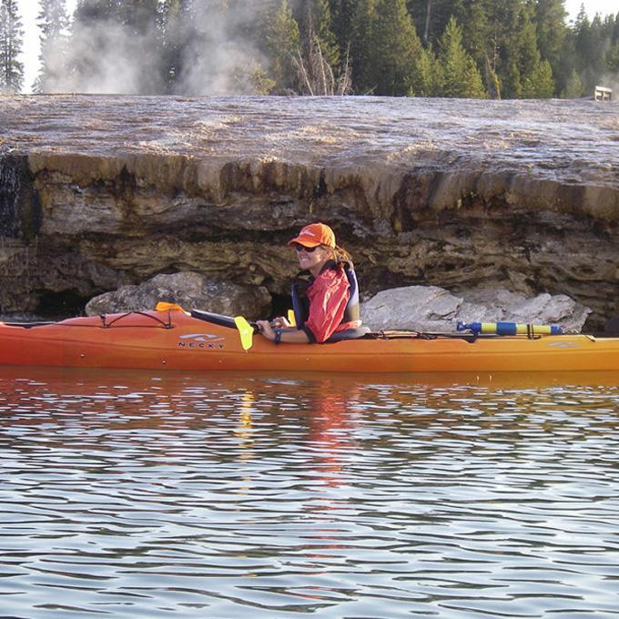 Kayak in Yellowstone