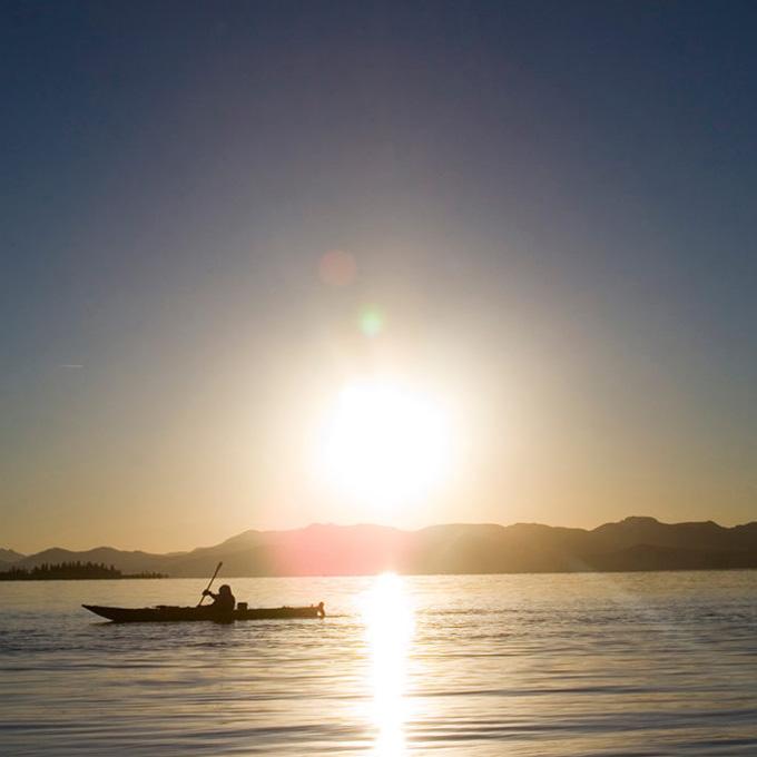 Yellowstone Lake Sunset Kayak Trip