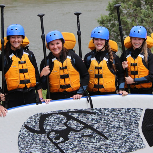 Group Paddleboarding on the Colorado River