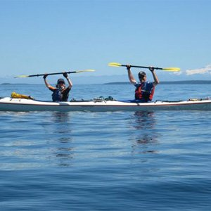 Couple exploring San Juan Island on Kayak Tour