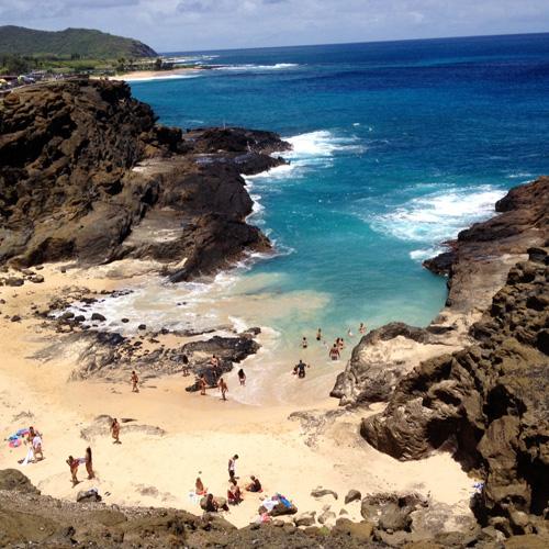 Halona Cove on Oahu