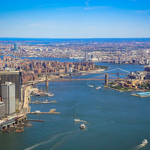 View of the Hudson River  from Helicopter Tour in NYC