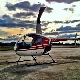 Helicopter Hover Flight near Portland