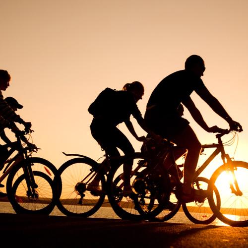 Sunset Ride During La Jolla Bike Tour in San Diego