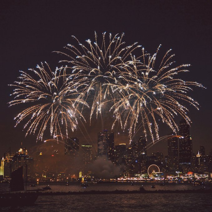 Fireworks Cruise at Navy Pier in Chicago