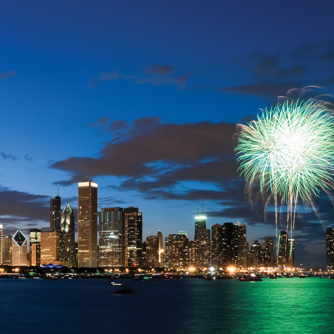 See Fireworks from the Water