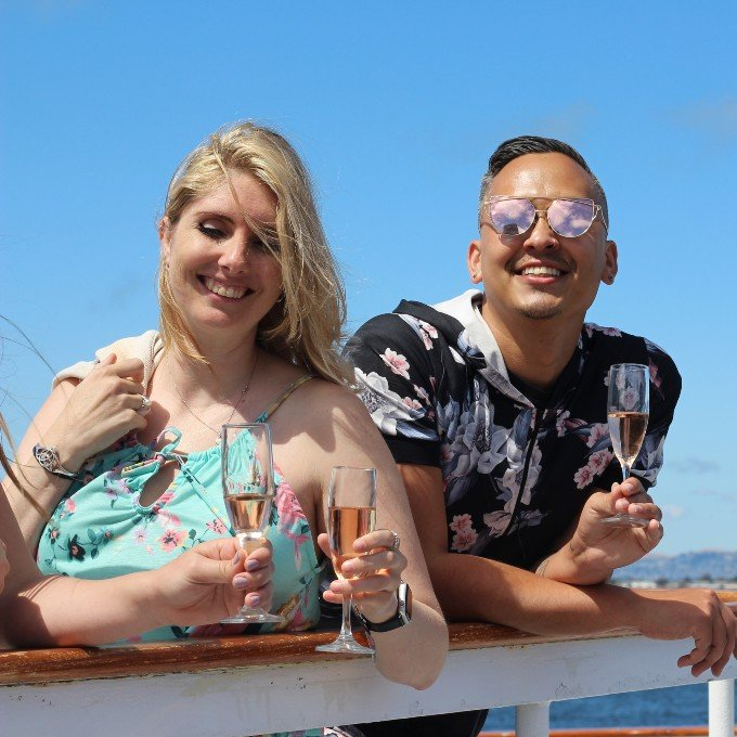 Guests enjoying Champagne Brunch Cruise in San Francisco