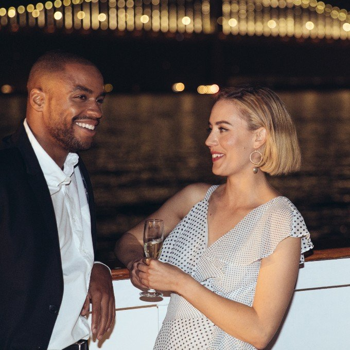 Guests on deck of San Francisco Dinner Cruise