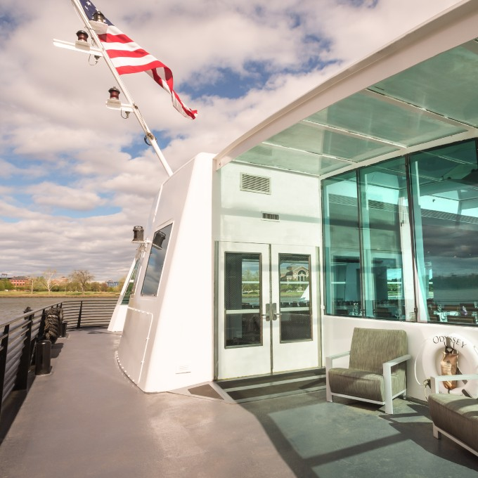 Sundeck on a Gourmet Lunch Cruise in DC