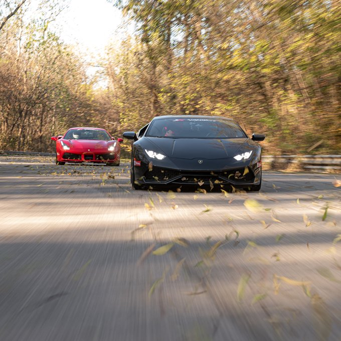 Exotic Car Racing at Nelson Ledges Road Course