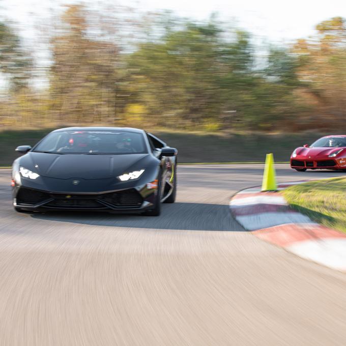 Race a Ferrari 488 GTB and Lamborghini Huracan