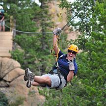 Ziplining near Denver