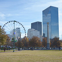 Centennial Olympic Park During Electric Car Tour