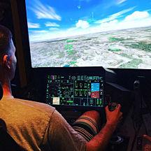 60 Minute Flight in a Fighter Jet Flight Simulator