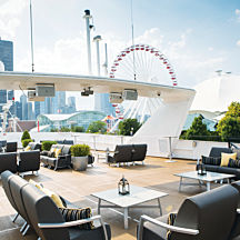 Gourmet Lunch Cruise Deck in Chicago