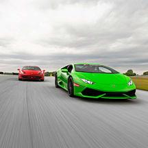 Italian Supercar Experience at Auto Club Speedway near LA