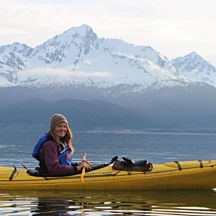 Kayaker in Resurrection Bay Alaska