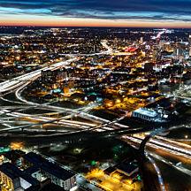 City Lights Nighttime Airplane Tour