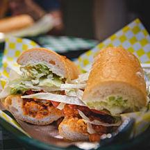 Po-Boy Sandwich during New Orleans Garden District Tour