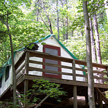 Cabin Tent on Overnight Adventure