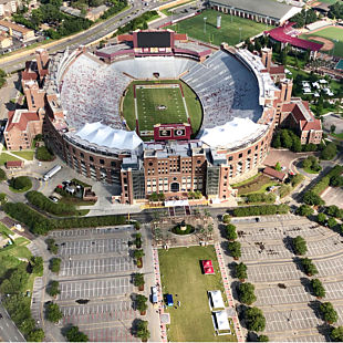 Doak Campbell Stadium During Tallahassee Helicopter Tour