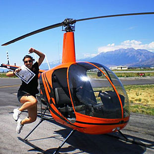 Helicopter Flight in Utah