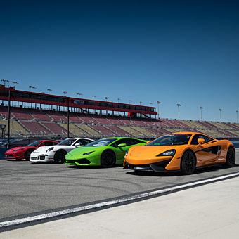 Race 5 Exotic Cars at Las Vegas Speedway