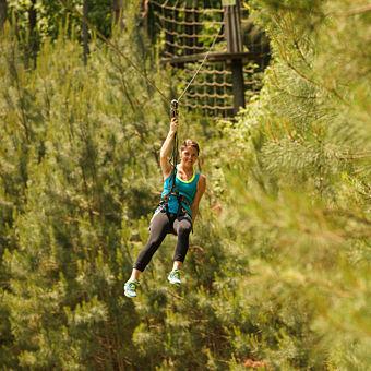 Ziplining in Ashland