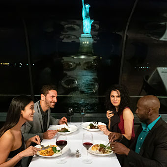 NYC Gourmet Dinner Cruise with view of Statue of Liberty