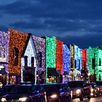 Rochester with Christmas Lights