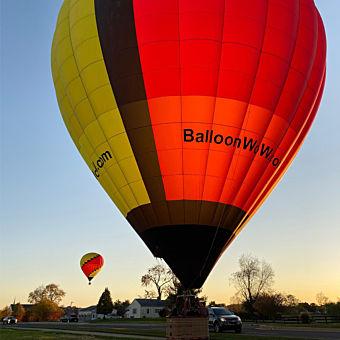 Sunset Hot Air Balloon Ride in Hamilton County, IN
