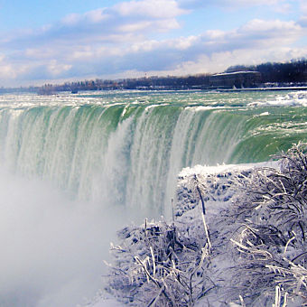 See Niagara Falls in the Winter